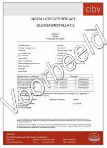 Voorbeeld certificaat blusgasinstallatie
