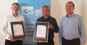Certificaat CCV Certificatieschema Uitgangspuntendocument Brandbeveiliging voor DGMR Bouw B.V.